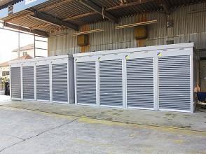 余裕の広さのレンタルバイクガレージ