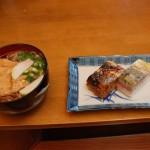 鯖寿司うどん定食